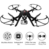 Brushless Motors Quadcopter RC Drone-MJX Bugs 3 Brushless Drones-300Meters Control Distance, 15 Mins Flying Time RTF Drone Gopro for Drone Racing