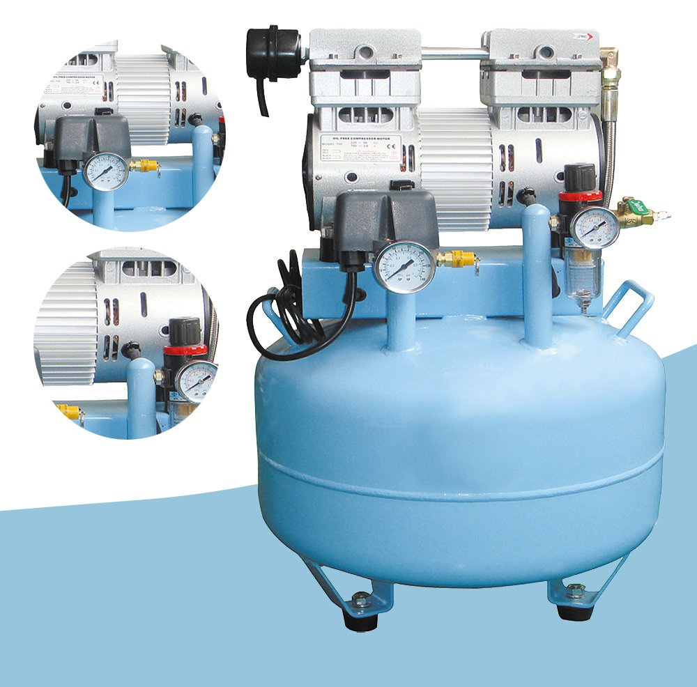 Dental Medical, rauscharmes Öl frei verschraubt Air Kompressor Motor/220V 40L 150L/min für zwei Dental Stühle Funwill