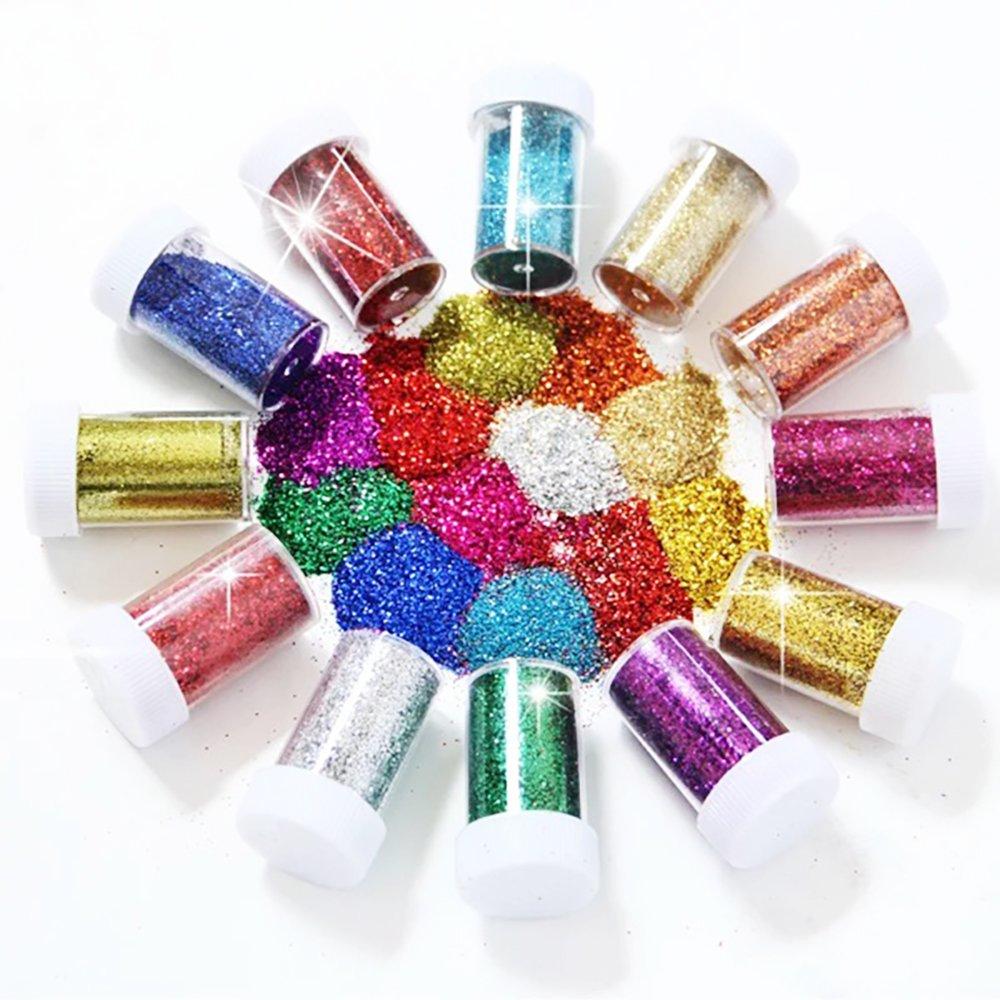 Belle Poudreuse brillante sottile per dei Gel d' arte di unghie arte e artigianato Vernici e forniture acrilico glitter 12caso Newin Star