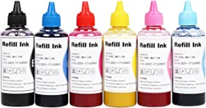 CoYlBod Sublimation Ink for Artisan 1430 1500w 730 837 835 810 800 725 710 700 600 50 PHOTO1410 1400 RX680 RX595 RX580 Refillable Cartridges or CISS, Heat Transfer on Mugs, t-Shirts