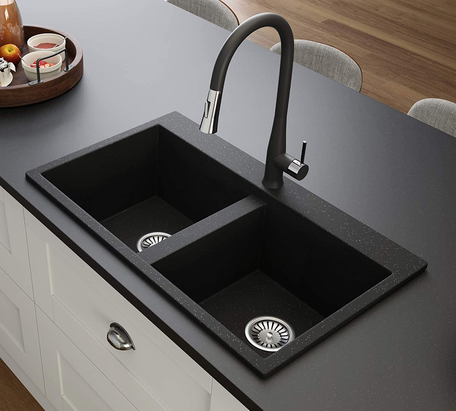 Black Kitchen Sink Lavello Elle 200T 32\
