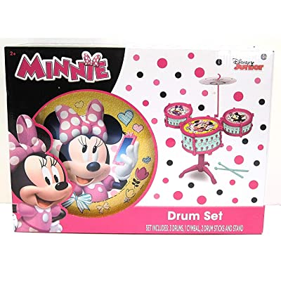 What Kids Want Minnie Drum Kit Set, 31210MIN: Toys & Games [5Bkhe0501239]
