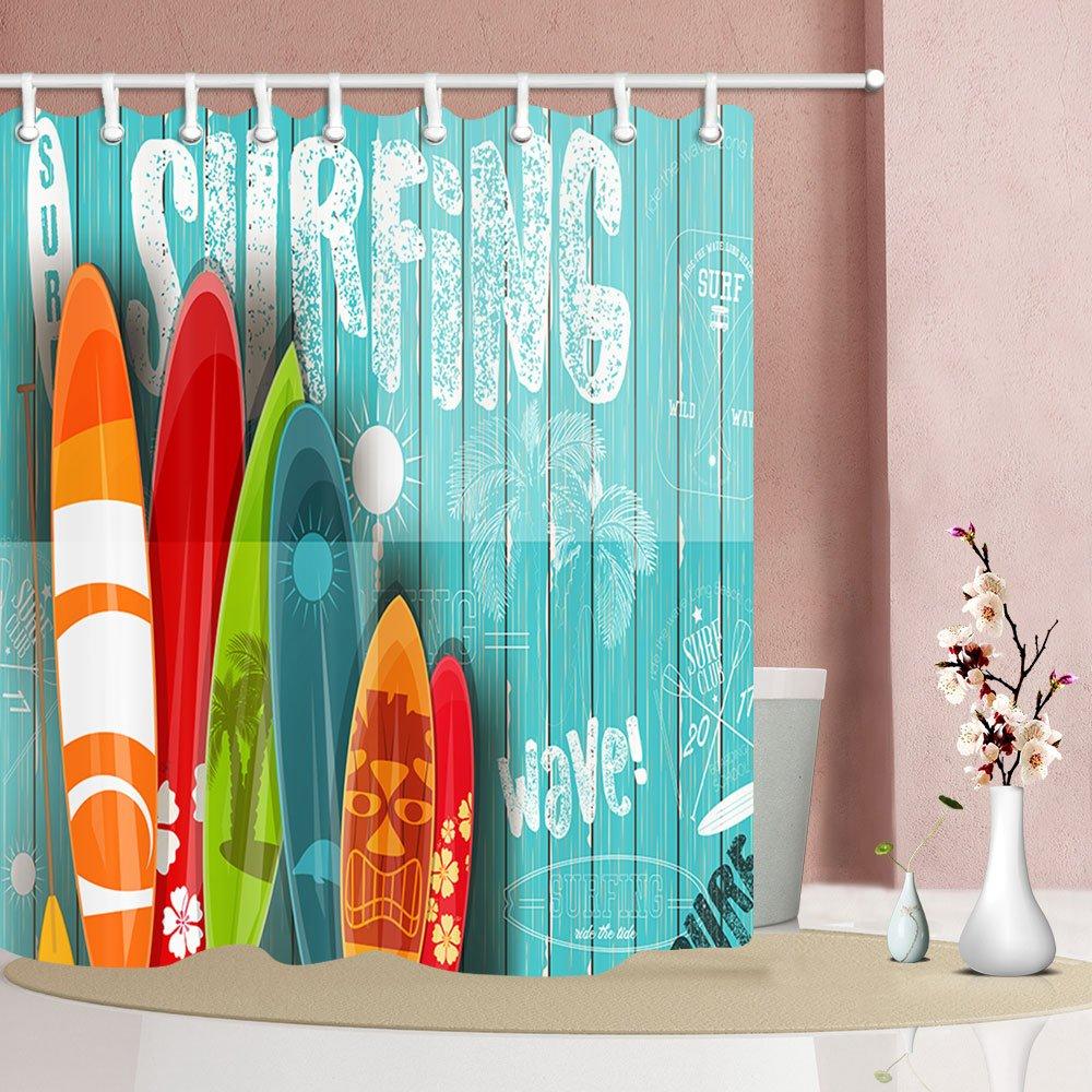 3D Digital Printing Shower Curtain Bath Curtain With Hook Bathroom Decoration
