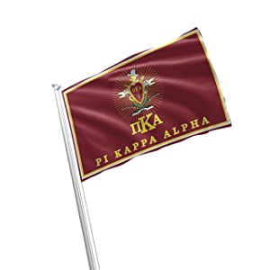 Pi Kappa Alpha Fraternity Greek Life Licensed Flag 3x5 Feet Flag Banner Wall Decor Outdoor Indoor Decoration Brass Grommets Double Stitch