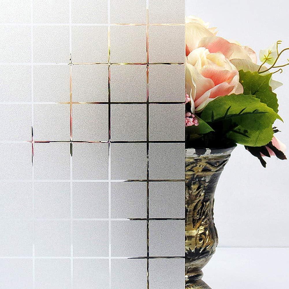 TTMOW Vinilo para Cristal Ventana Translucido Decorativos Cristal Lamina Electrostatica para Ventana Proteger la Privacidad del Bano (90 x 200 cm)