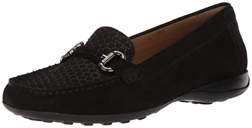 Geox Womens EUXO 3 Moccasin, Black, ...
