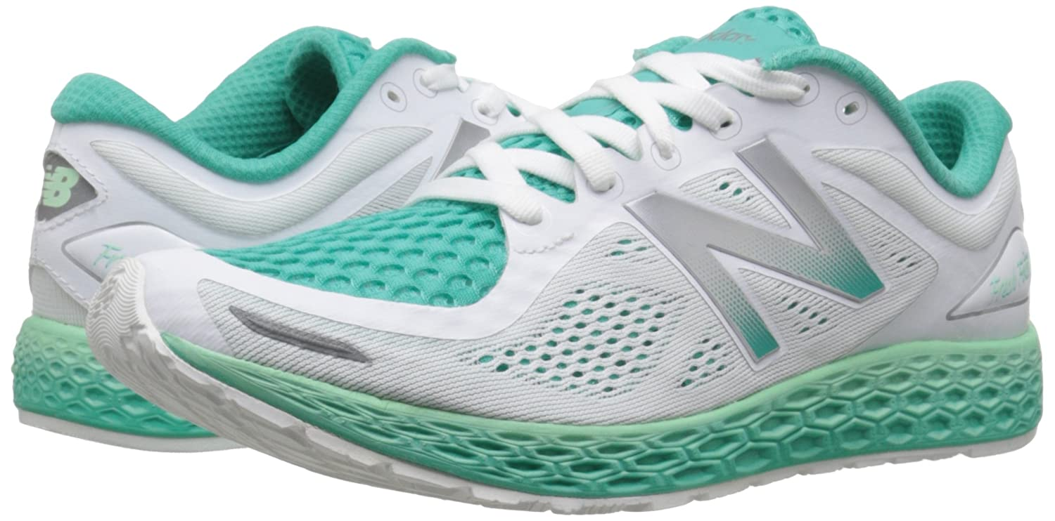 New Balance Women's ZanteV2 Breathe Running Shoe B0164197DE 10.5 B(M) US|White/Sea Foam