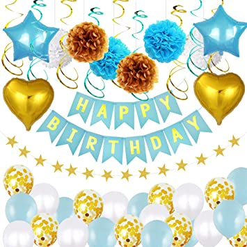 Netspower Decoraciones de cumpleaños Niñas, Decoración ...
