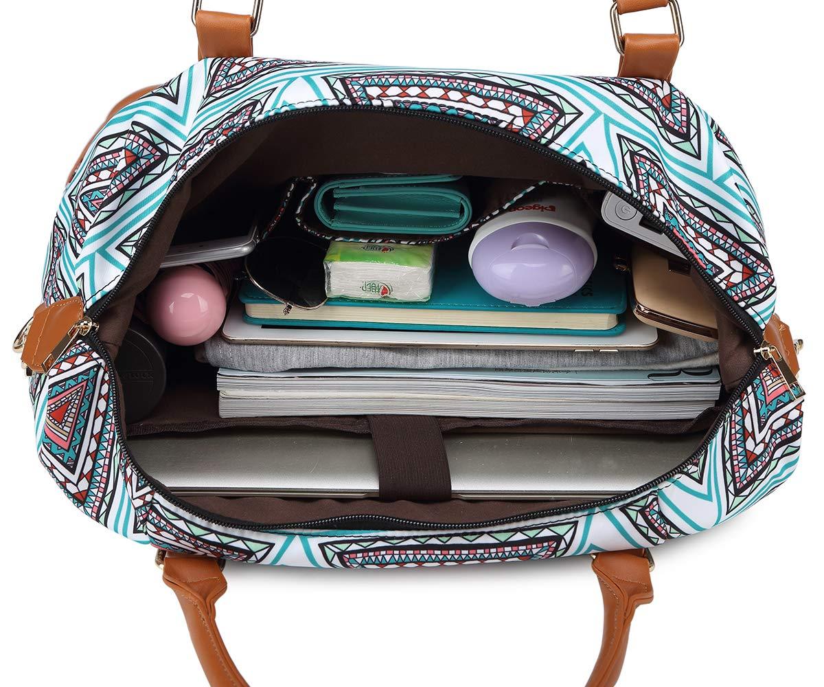 Bolsa de Viaje para Mujer Bolsos con Puerto de Carga USB Viaje Bolsa de Hombro Bolso de Compras Grande Bolsa de Deporte Duffle Bag Bolsa de Fin de Semana 16.5x13.5x8.5Inch Azul