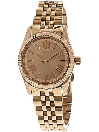 d98156fff5b6 Amazon.com  Michael Kors Women s Petite Lexington 26mm Rose Gold-Tone Steel  Bracelet   Case Quartz Analog Watch MK3875  Michael Kors  Watches