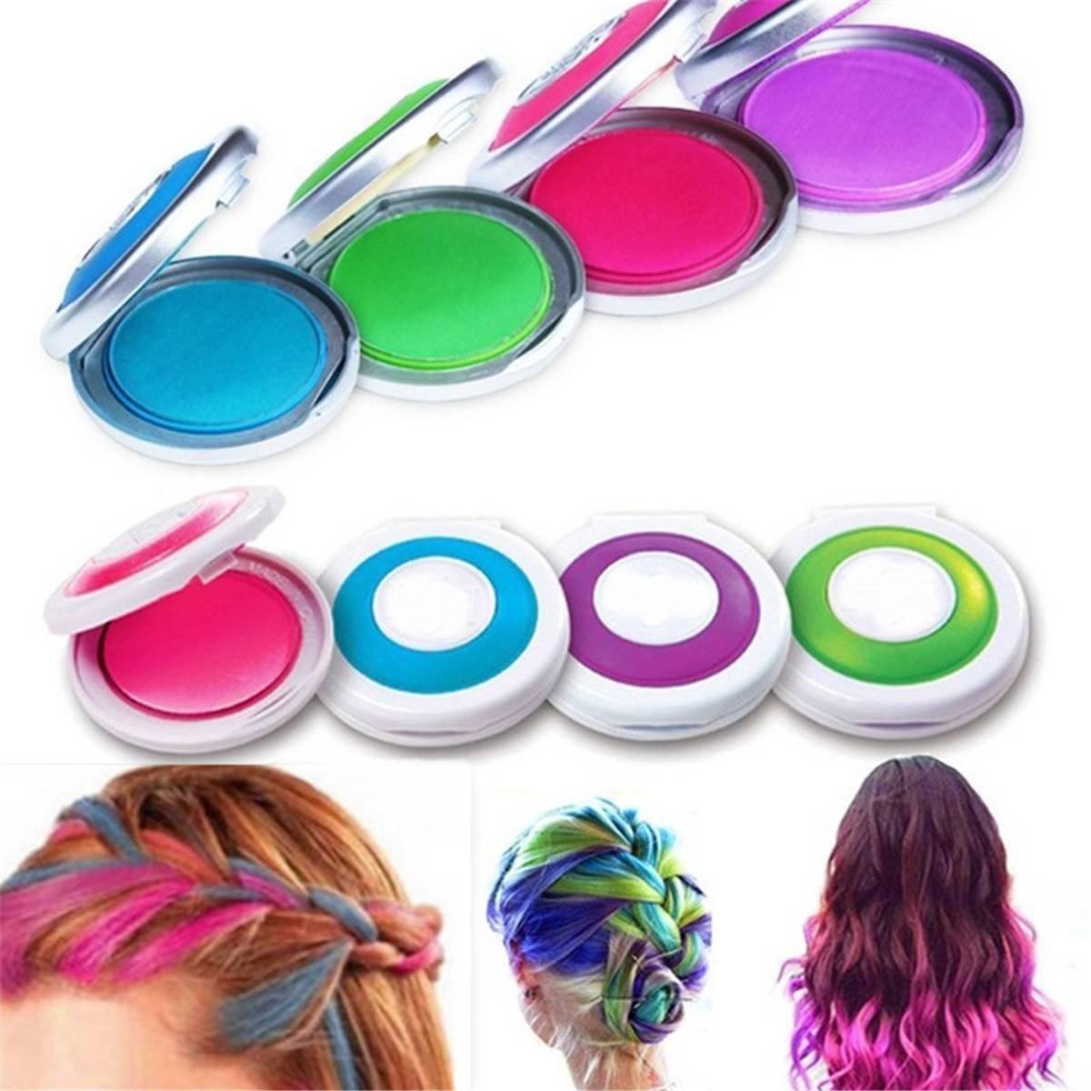 luckyfine 4 couleurs 4pcs coloration - Coloration Cheveux Semi Permanente