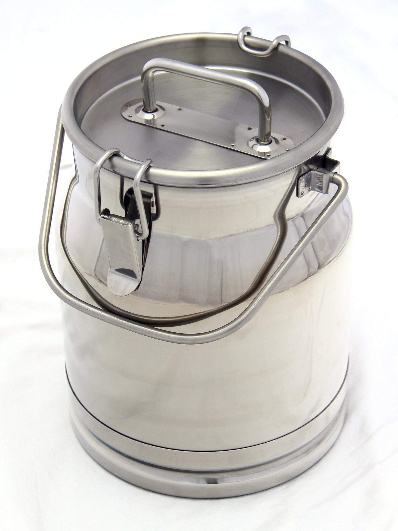 Stainless Steel Milk Transport Cans with Strong, Sealed Lid and Spigot Option (2.6 Gallon, with Spigot)