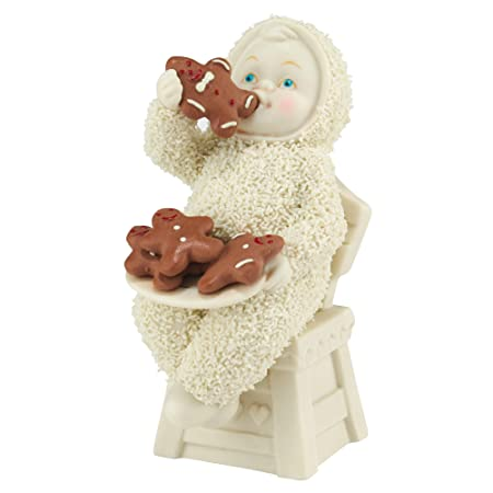 Department 56 Snowbabies Eating All The Gingerbread Porcelain Figurine. 4