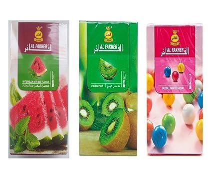 A2Z COLLECTION Al Fakher Watermelon with Mint/Kiwi/Bubble Gum/Hookah Flavour- Pack of 3