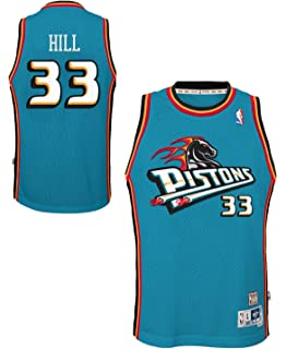 e10216865 Outerstuff Grant Hill Detroit Pistons NBA Youth Throwback Swingman Jersey -  Teal