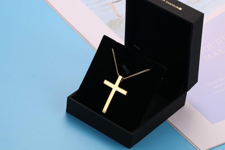 Sllaiss Argent sterling 925/Croix Collier pour homme Meilleur Cadeau Pendentif Croix Collier 45,7/cm