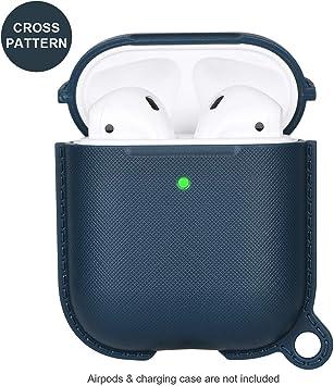 Funda para Airpods Compatible con Estuche de Carga Inalámbrica de Apple Airpods 1 y 2 Accesorio Cubierta Skin de Protección Completa: Amazon.es: Electrónica