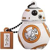 Tribe Disney Star Wars BB8 USB Stick 16GB Speicherstick 2.0 High Speed Pendrive Memory Stick Flash Drive, Lustige Geschenke 3D Figur, USB Gadget aus Hart-PVC mit Schlüsselanhänger – Mehrfarbig