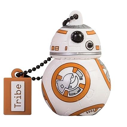 Tribe Disney Star Wars BB8 - Memoria USB 2.0 de 16 GB Pendrive Flash Drive de Goma con Llavero