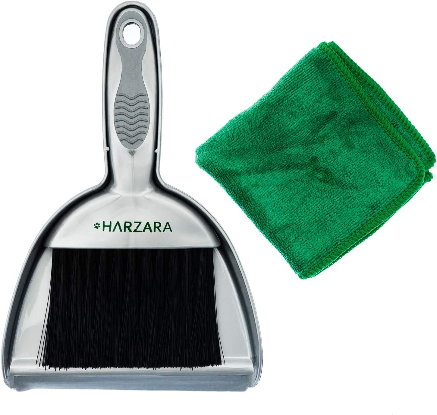 Harzara Mini Dustpan & Brush Set. Use for Pet Cage Cleaning of Small Animals. Also Ideal for The Home & Kitchen. Best for Floor, Small Bench Spills & Keyboards. Great Space Saving Tool.