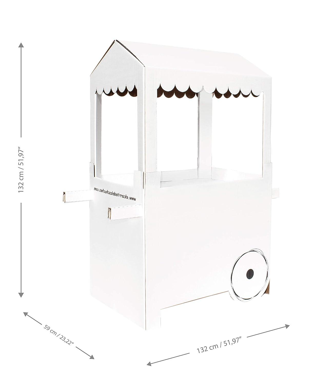 Mery & Lola Party Deco Carrito DE CHUCHERIAS de Cartón Fiesta Ballet, Medida XL Medida 132 Cm (Alto) x 100 Cm (Ancho) x 59 Cm (Profundidad) - Candy Bar ...