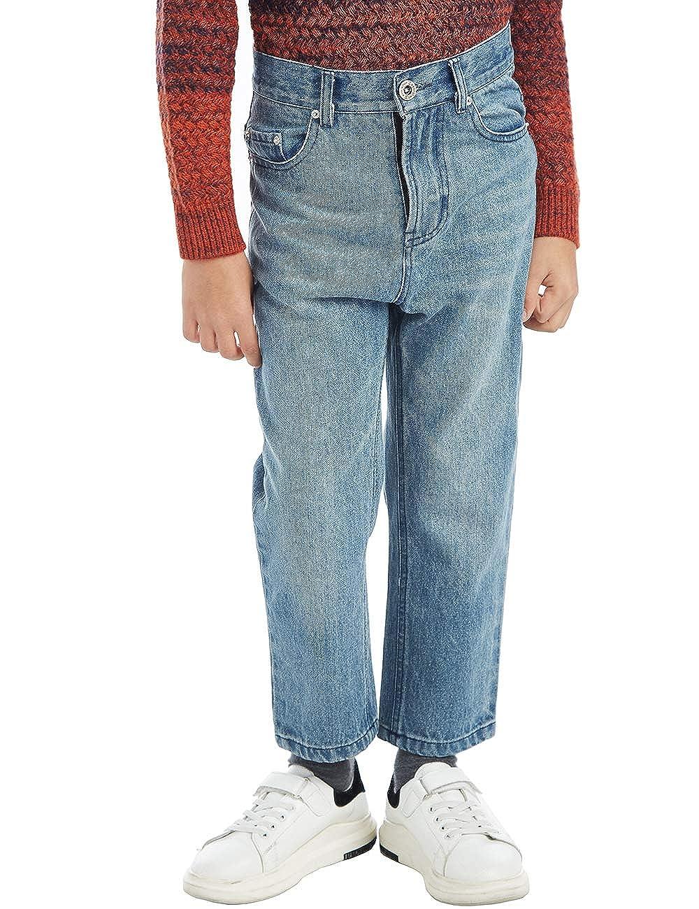 BYCR Boys' Blue Denim Jean Elastic Waist Pants for Kids Size 4-18 No. 71500092