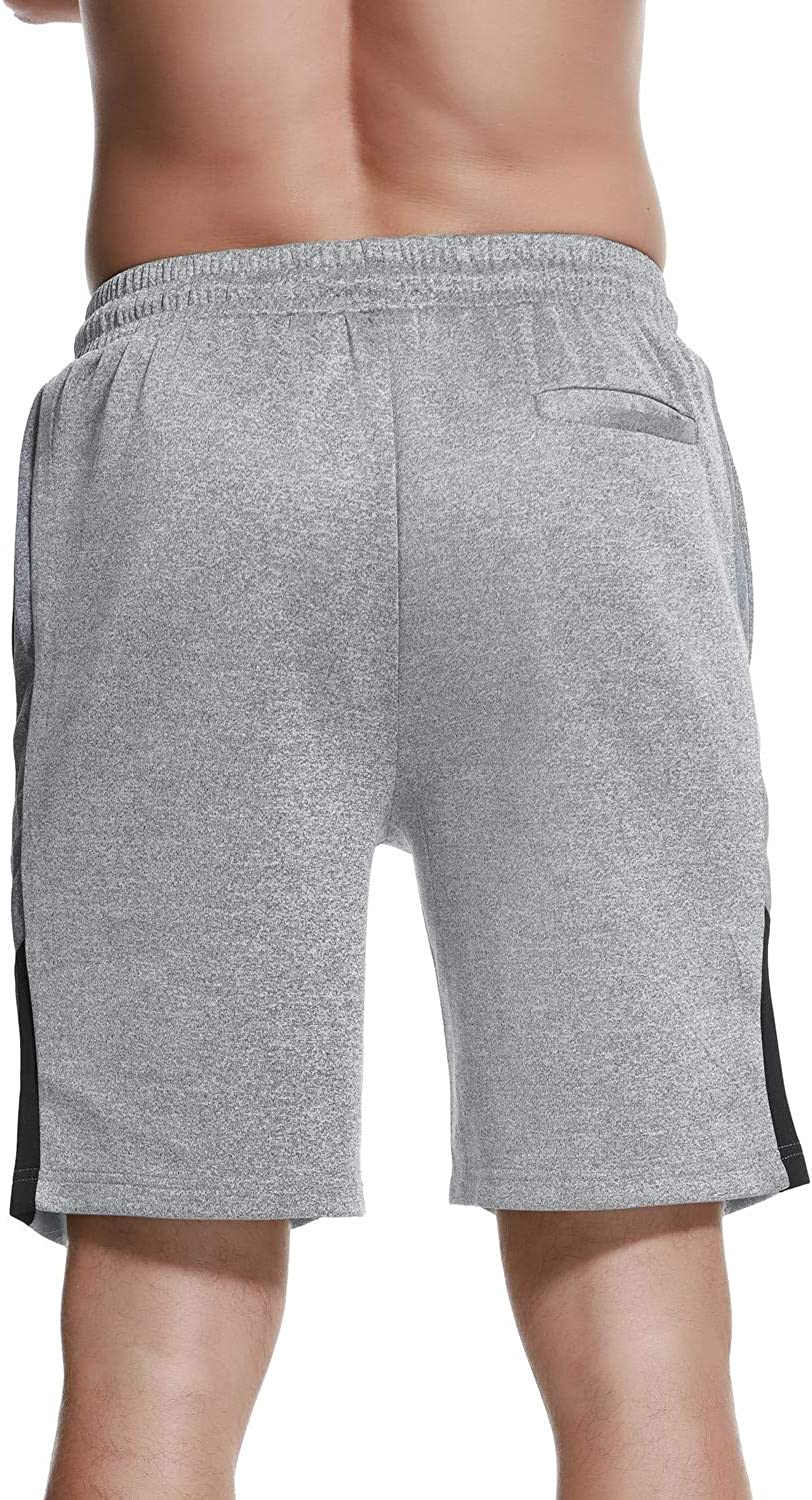 Rdruko Mens Fitted Gym Workout Shorts Running Training Bodybuilding Jogger Shorts with Pockets