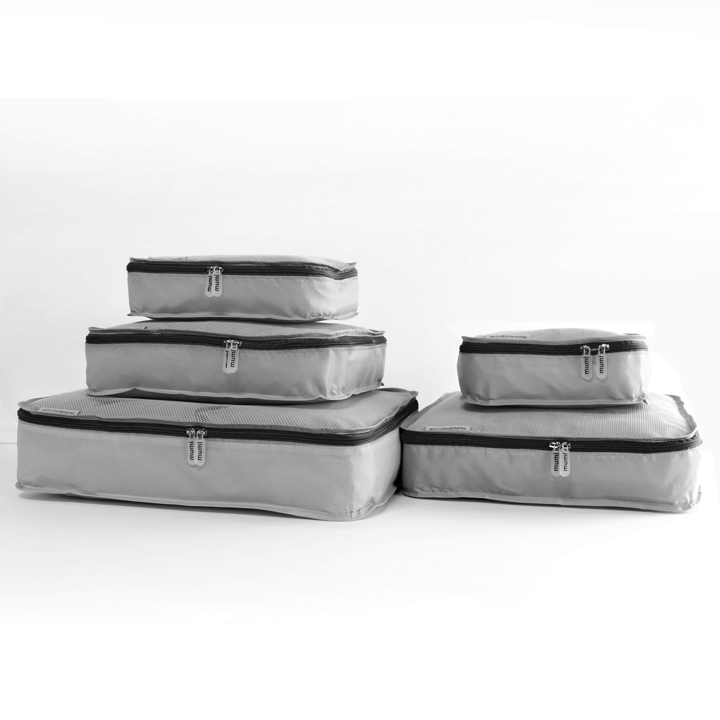 mumi Packing Cubes 5 Set Luggage Organizer Travel Cubes - Black by MUMI