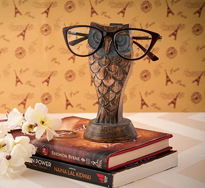 Wooden Owl Spectacle Holder