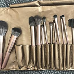 Amazon Com Nevsetpo Quality Makeup Brushes Professional Premium Cosmetic Full Face Brush For Eye Shadow Foundation Blush Lip Powder Blending Perfect For Makeup Artist Carry Pouch Included 15 Piece Purple Beauty