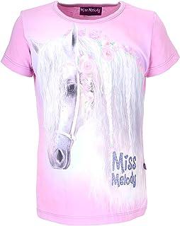Miss Melody Mädchen Shirt mit Pferde 84018 Hellrosa)