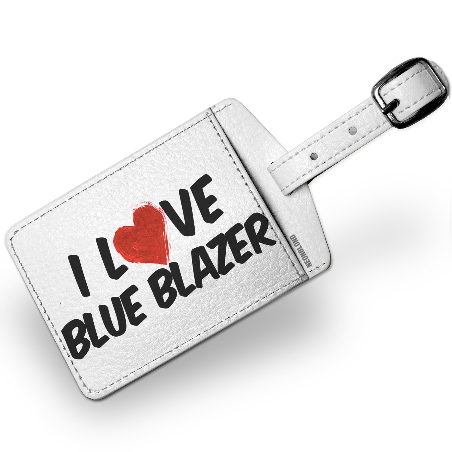 Luggage Tag I Love Blue Blazer Cocktail - NEONBLOND