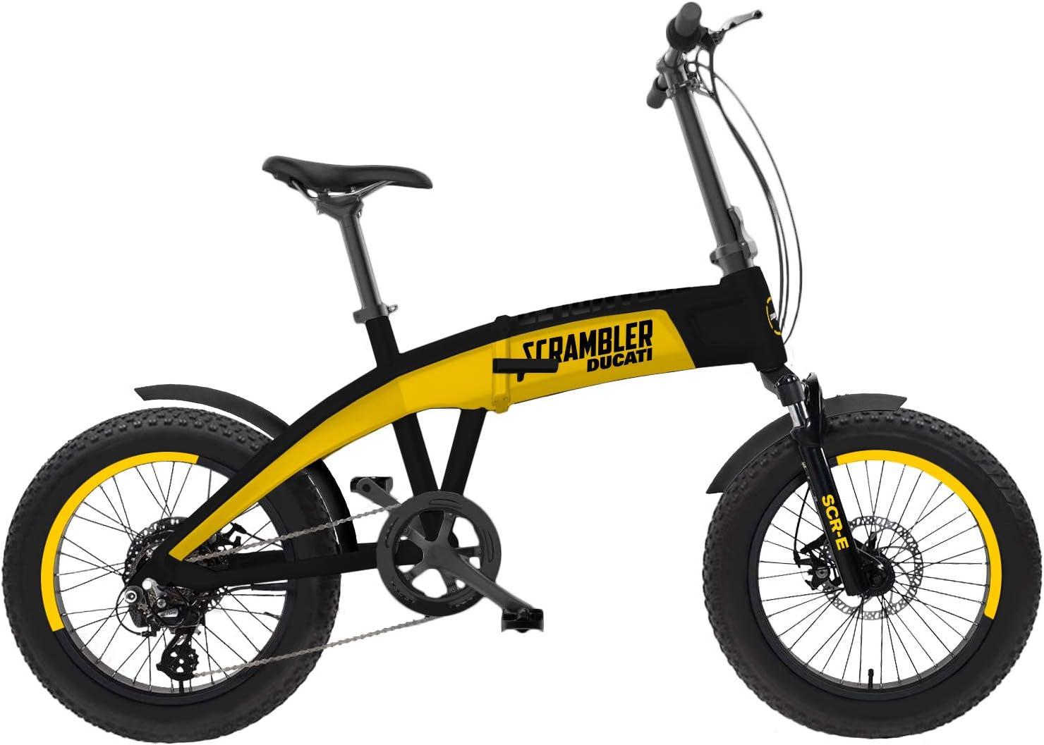 Scrambler Ducati Bike Scr E Electric Bike With Fat Wheels Unisex Adult Yellow And Black One Size Sport Freizeit