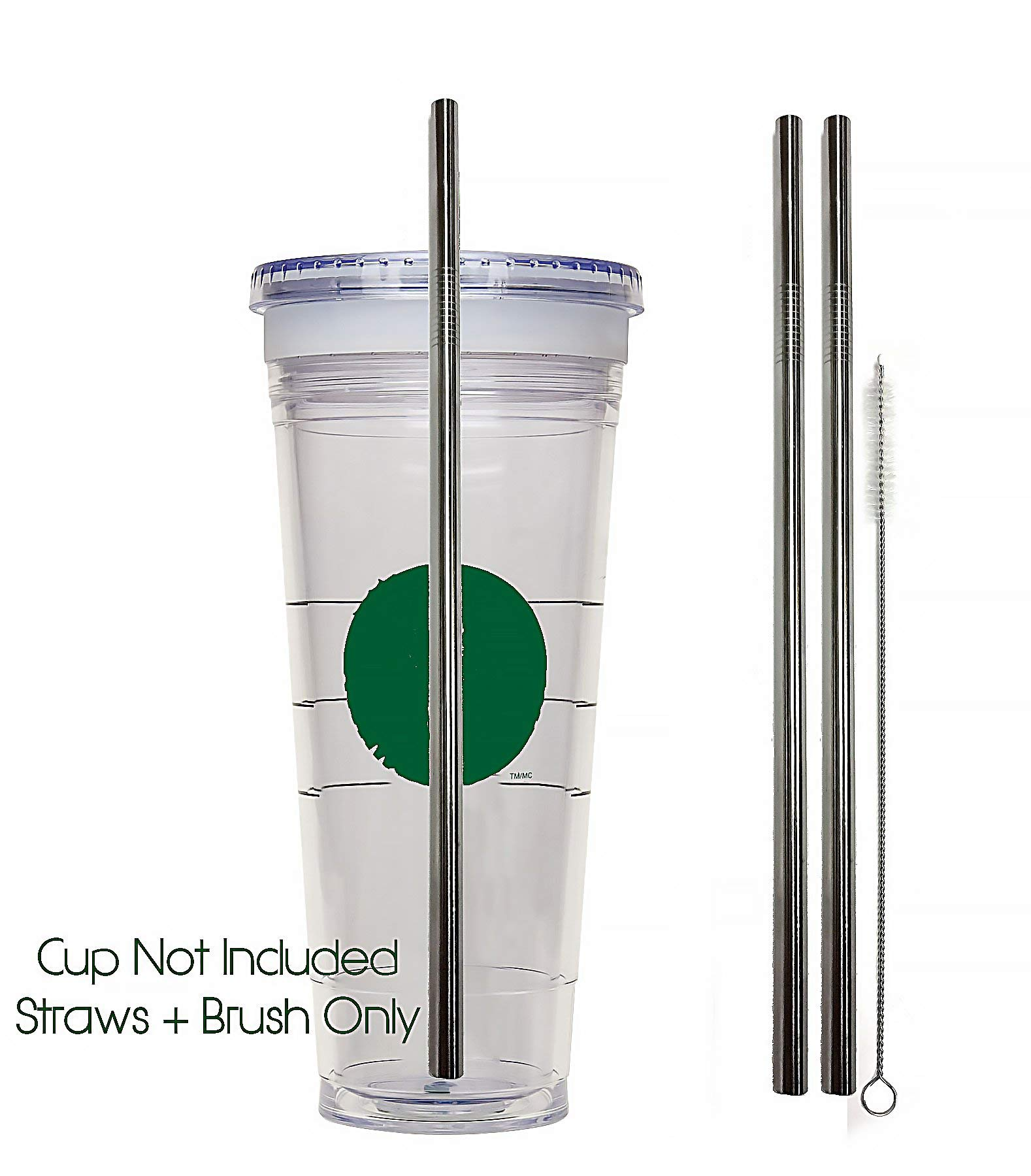 4 Pack Cocostraw for Aladdin Mason Jar 32 oz Tumbler PerfectFIT 18//8 Stainless Steel Drinking Straws With Cleaning Brush