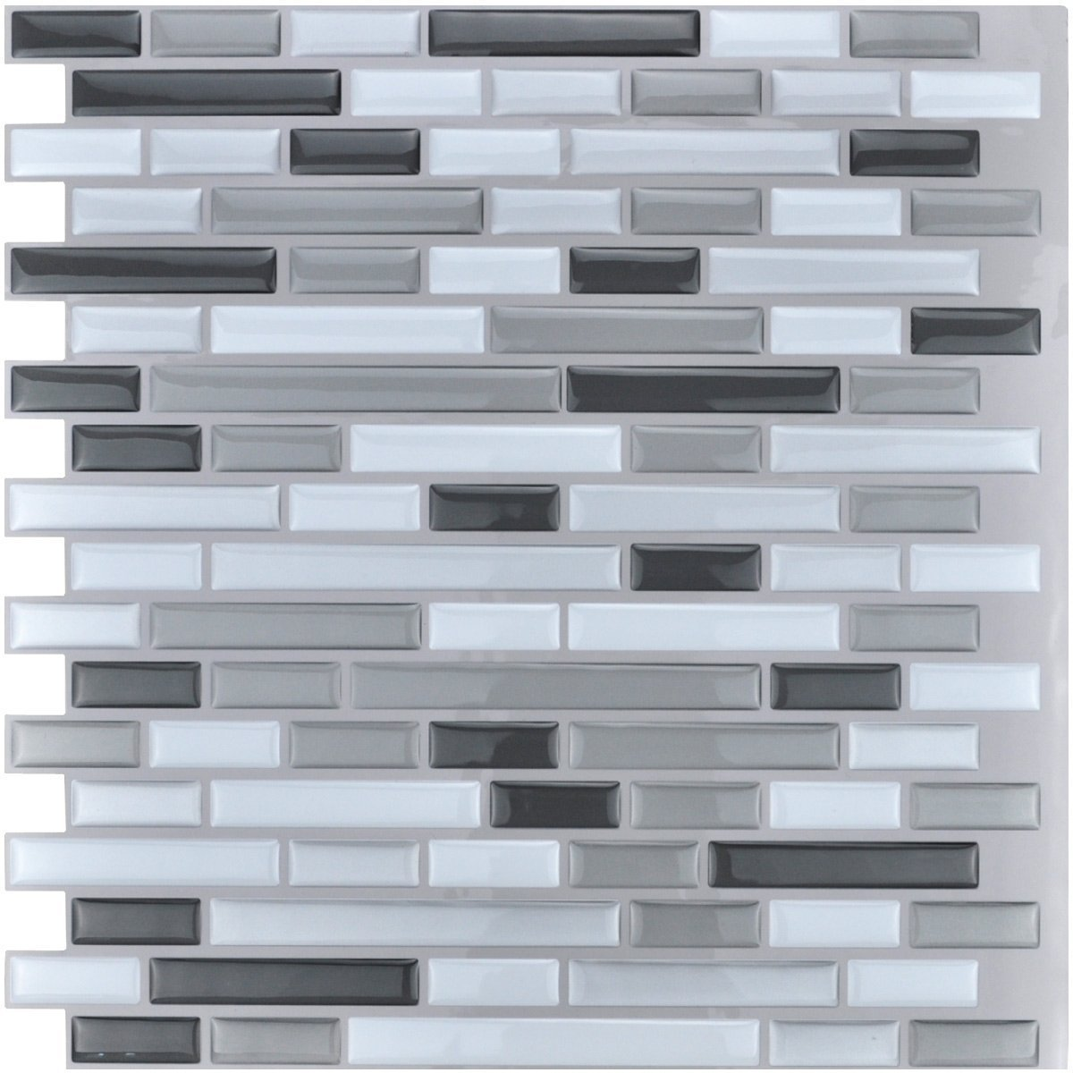 Art3d 10-Piece Stick on Backsplash Tile for Kitchen/Bathroom, 12\