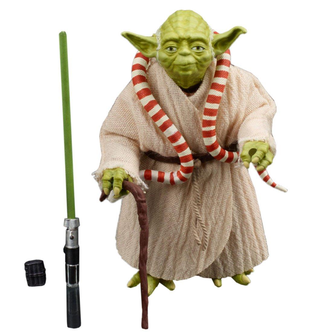 Serie Star Wars Negro 6 pulgadas figura de Yoda longitud total de 6 pulgadas figura de accioen de pintado