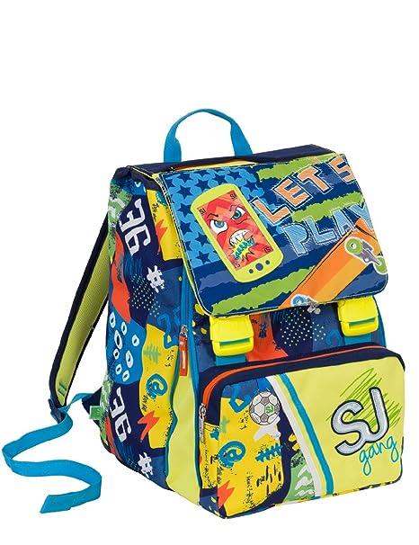 check-out afa32 ca565 Zaino scuola sdoppiabile SJ GANG - BOY - Giallo Blu - FLIP SYSTEM ...