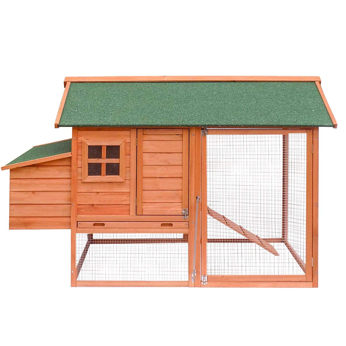Merax Wooden Pet Chicken Coop House with Nesting House and Tray