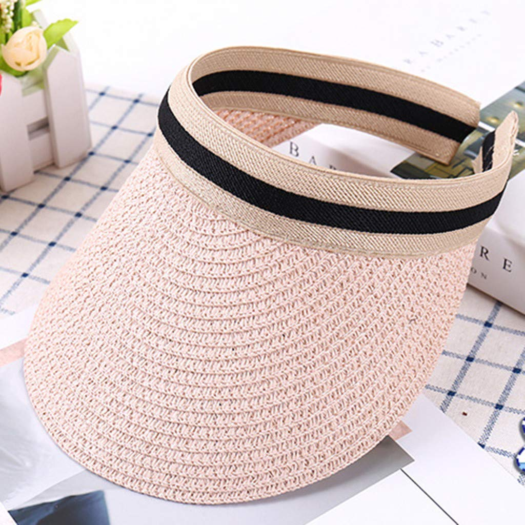 3779bd15 Amazon.com: Sun Protection Hat Children Cute Straw Boater Hat Festival  Summer Sun Beach Hat Baseball Sequins Reticular Hat (1 pc, Beige b):  Clothing