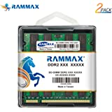 RamMax メモリ 2枚組 DDR2 800 PC6400 2GBX2 RM-SD800-D4GB DUAL 200pin DDR-SO-DIMM DIMM ノート パソコン用 増設メモリ 2GB デュアル