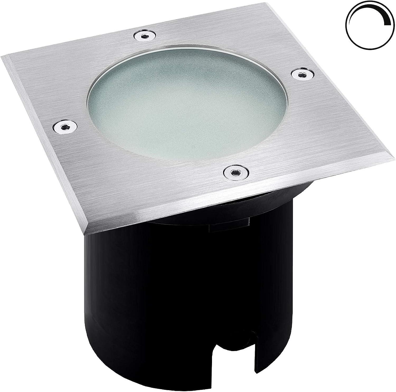 3 Stück IP68 SMD LED Boden Einbaustrahler Milan 230 Volt 7 Watt Gartenleuchte