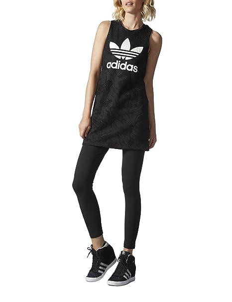 Vestido adidas – Trefoil Tank Dress negro talla: 34 S (Small)