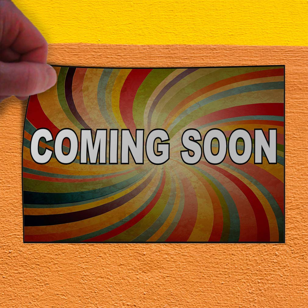 Set of 2 52inx34in Decal Sticker Multiple Sizes Coming Soon Rainbow Business Coming Soon Outdoor Store Sign Multi-Colored