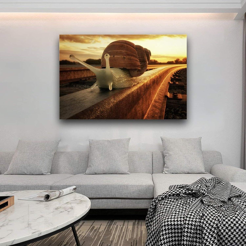 danza palestre club per il tempo libero camera da letto N // A Poster su tela con lumache sul Tramonto Traccia corridoio decorazione artistica moderna per soggiorno senza cornice