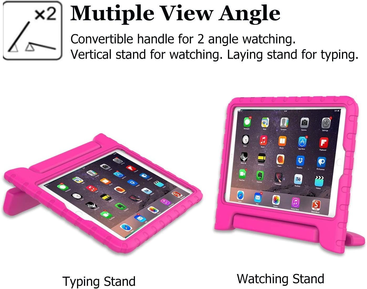 - Blue iPad 2nd 3rd 4th Generation Shockproof Light Weight Convertible Handle Stand Case Cover for Apple iPad 9.7 Inch BMOUO Kids Case for iPad 2 3 4