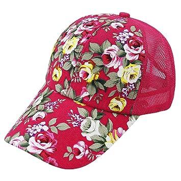 Baocore Mujer Sombrero de béisbol malla mujer niña ajustable Gorra Plate  anti-UV de transición b79aa2c58f1