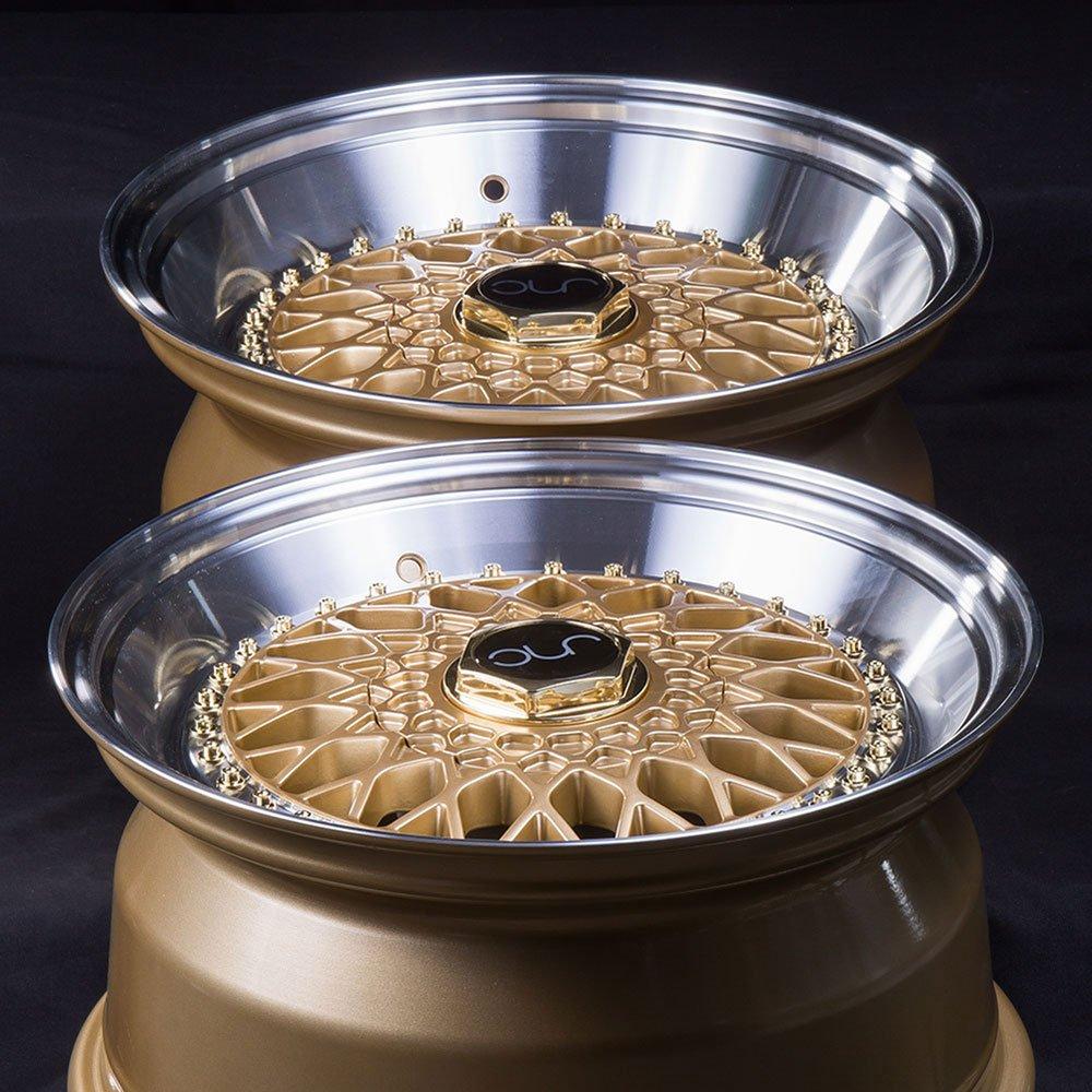 17 JNC004 Gold Machined Lip Gold Rivet Rim 4x100//4x114.3-17x10 inch JNC Wheels