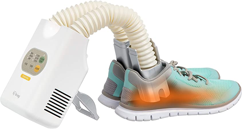 IRIS USA, Inc. DSDR-C1 Compact Deodorizing Shoe And Boot Dryer With Timer, Platinum