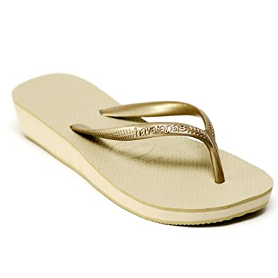 e3bd671d354a Havaianas Gold High Light Wedge 1.5 quot  4 cm Heel Strap Flip Flops Women s  Fashion Sandal