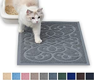 PetLike Durable Cat Litter Trapping Mat (30 x18 inches), Traps Litter from Box and Cats, Scatter Control, Soft on Kitty Paws